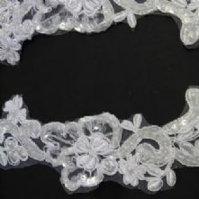 White Beaded Bridal Applique